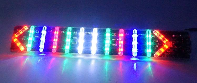 摩托电动车安全led警示灯牌 刹车转向双闪跑马流水灯
