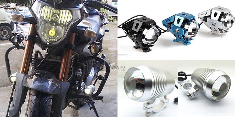 摩托车激光炮变形金刚大灯改装效果图