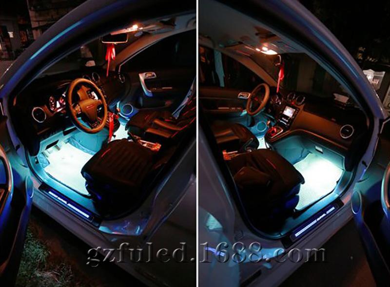 车内氛围灯 音乐声控七彩气氛灯 免安装汽车氛围灯灯