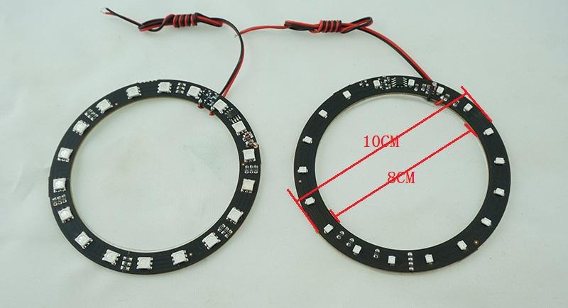 汽车摩托车装饰光圈灯集成ic在电路板上无需外置控制器5050smd18