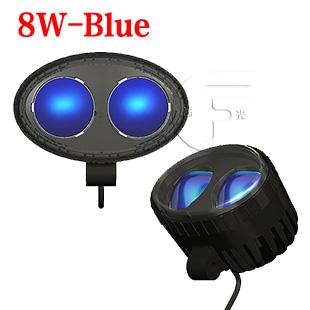 8w蓝光车用安全照明警示灯 铲车叉车专用行车照明灯